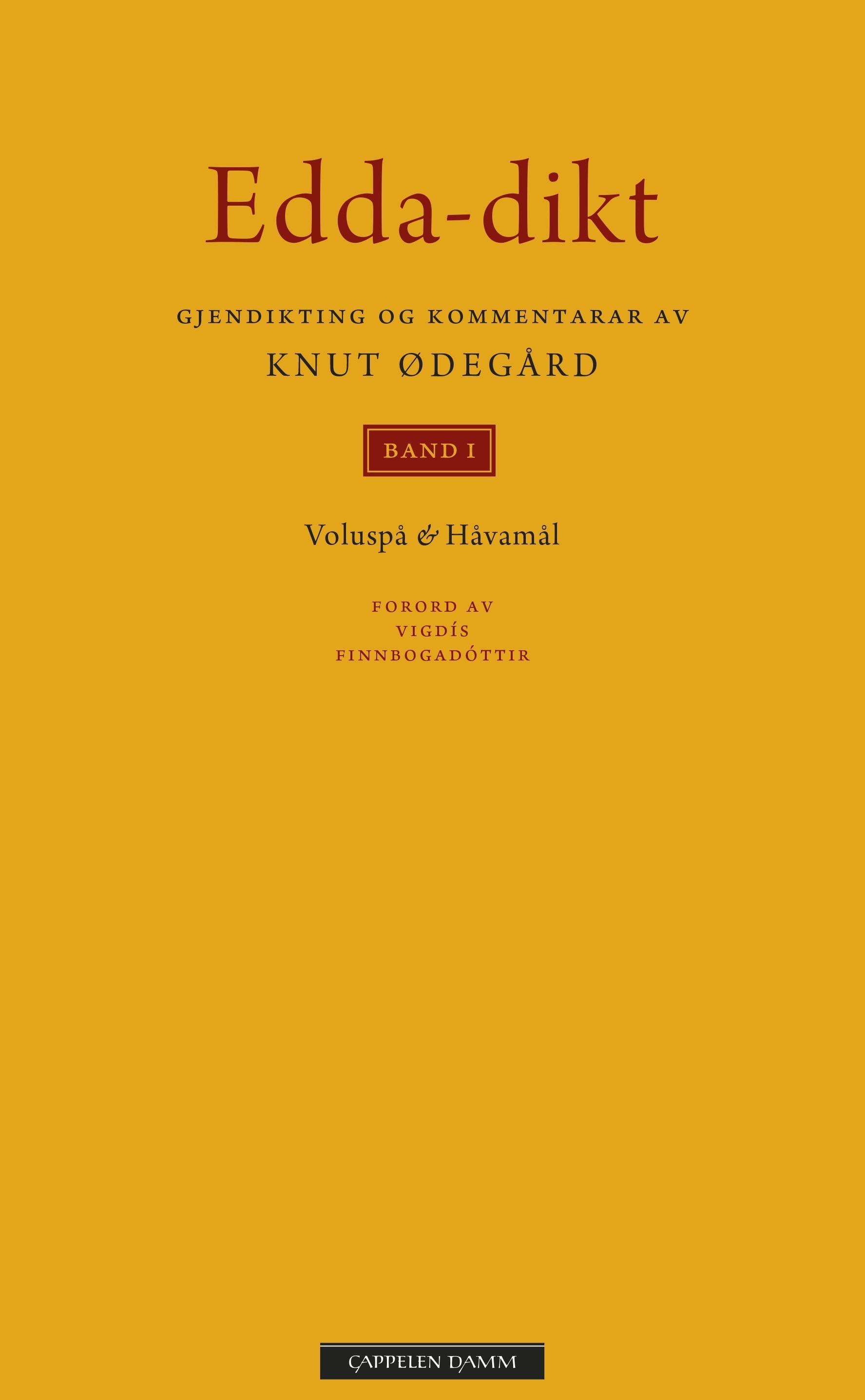 """""""Edda-dikt - band 1"""" av Knut Ødegård"""