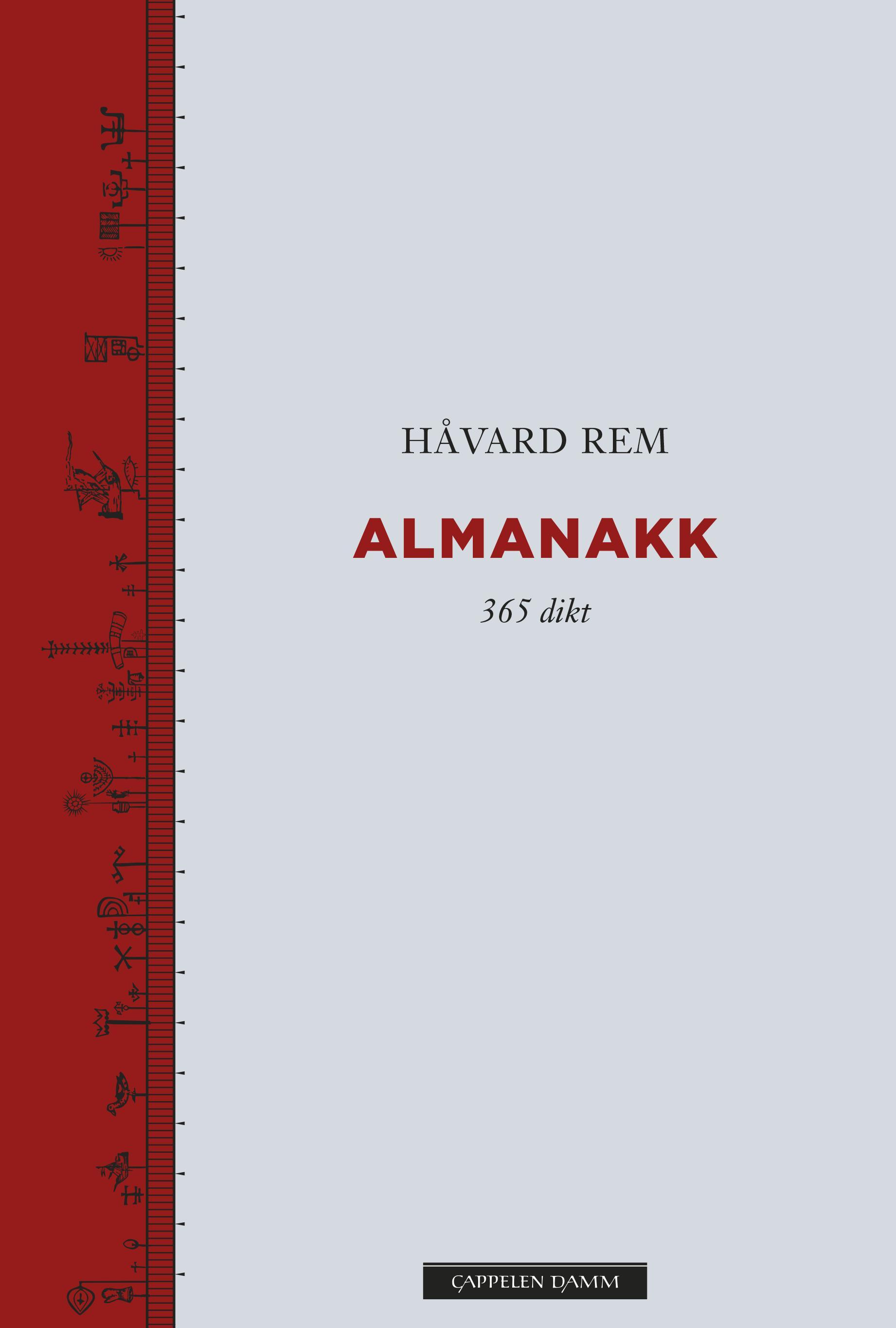 """""""Almanakk - 365 dikt"""" av Håvard Rem"""