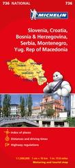 """Slovenia, Croatia, Bosnia & Herzegovina, Serbia, Montenegro, Yug. Rep of Macedonia - motoring and tourist map"""