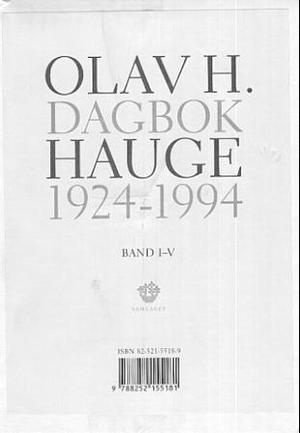 """""""Dagbok 1924-1994. Bd. 1-5"""" av Olav H. Hauge"""